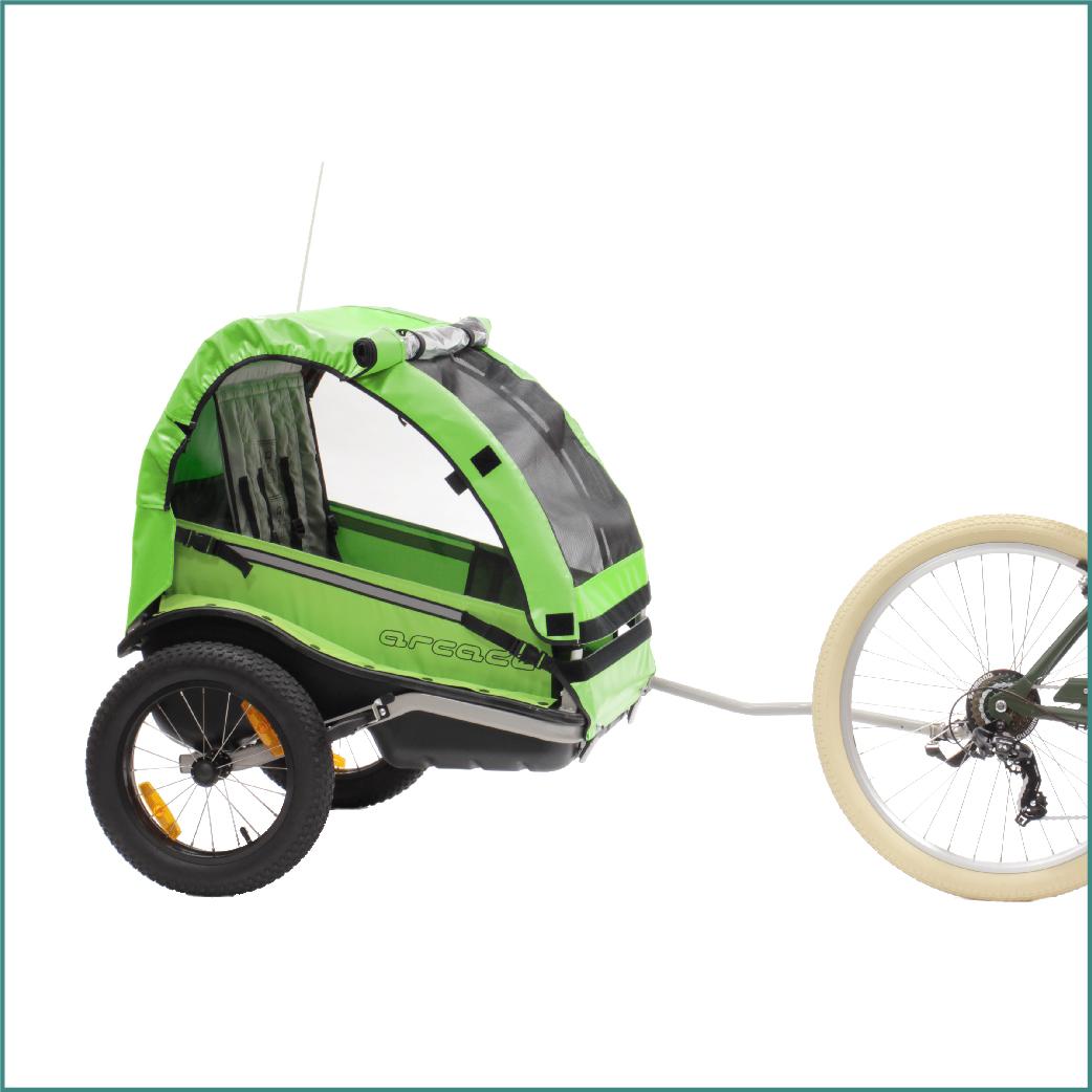 Remorque pour vélo Arcade Explorer Verte