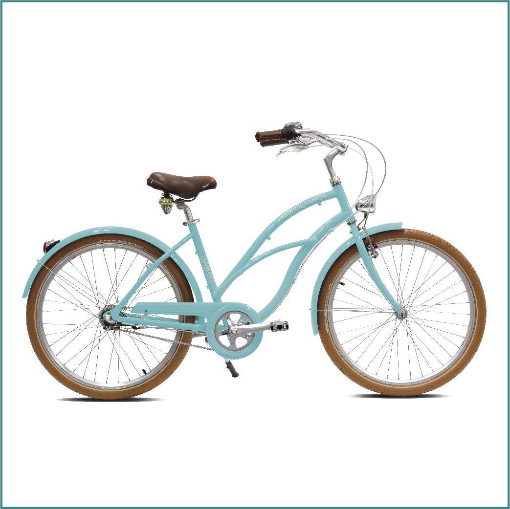 Vélo Arcade Keywest Femme Bleu ciel